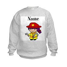 Personalized Girl Firefighter Sweatshirt