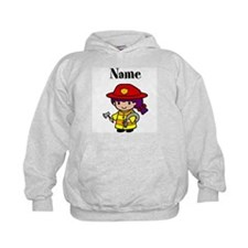 Personalized Girl Firefighter Hoodie