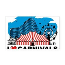 I Love Carnival Rectangle Car Magnet
