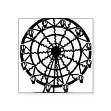 "Ferris Wheel Square Sticker 3"" x 3"""