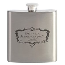 Obstinate Headstrong Quote Flask