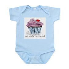 eat more cupcakes Infant Bodysuit