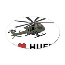 I Love Huey Oval Car Magnet