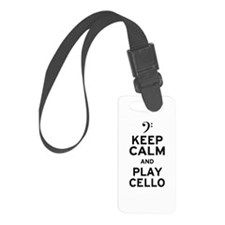 Keep Calm Cello Luggage Tag
