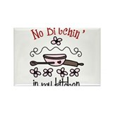 No Bitchin' in My Kitchen Rectangle Magnet