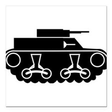 "Tank Square Car Magnet 3"" x 3"""