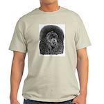Black Poodle (Front only) Ash Grey T-Shirt