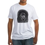Black Poodle (Front only) Fitted T-Shirt