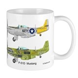 P-51 Mustang 462nd Fighter Squadron Cutaway Small Mug