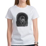 Black Poodle (Front only) Women's T-Shirt