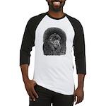 Black Poodle (Front only) Baseball Jersey