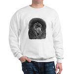 Black Poodle (Front only) Sweatshirt