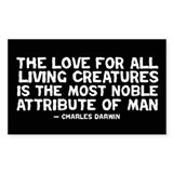 Quote Darwin - The Love Decal