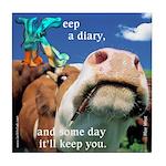 Keep a Diary Tile Coaster