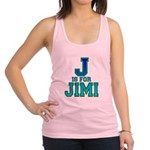 J is for Jimi Racerback Tank Top