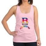 R is for Rainbow Racerback Tank Top