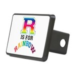 R is for Rainbow Rectangular Hitch Cover