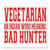 "bad hunter Square Car Magnet 3"" x 3"""