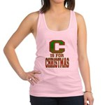 C is for Christmas Racerback Tank Top