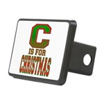 C is for Christmas Rectangular Hitch Cover