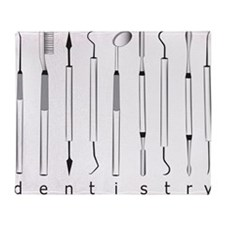 Dentistry Tools Throw Blanket