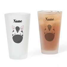 Personalized Zebra Drinking Glass