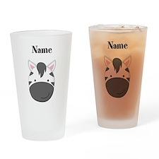 Personalized Zebra Drinking Glass