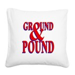 Ground & Pound.png Square Canvas Pillow