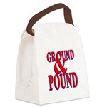 Ground & Pound.png Canvas Lunch Bag