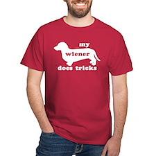 Wiener Tricks Dark Red T-Shirt