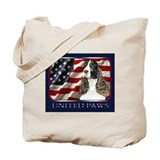 English Springer Spaniel Flag Tote Bag