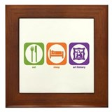 Eat Sleep Art History Framed Tile