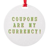 COUPON Round Ornament