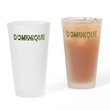Dominique, Vintage Camo, Drinking Glass