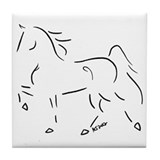 Stylized Five Gaited Saddlebred Tile Coaster