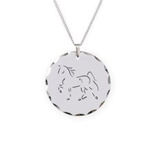Stylized Five Gaited Saddlebred Necklace