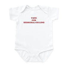 VOTE FOR HERSCHAL COLLINS Infant Bodysuit