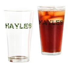 Hayles, Vintage Camo, Drinking Glass