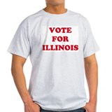 VOTE FOR ILLINOIS Ash Grey T-Shirt