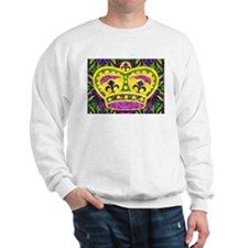 Bon Temps Rouler Mardi Gras Crown Sweatshirt