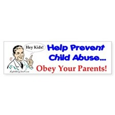 Prevent Child Abuse Bumper Bumper Sticker