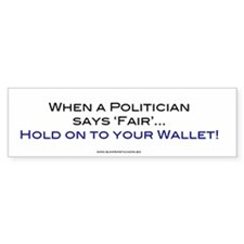 Politician says Fair, hold on to your Wallet