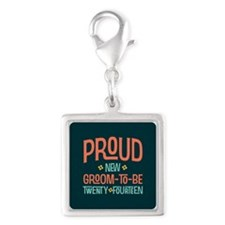 Proud New Groom To Be 2014 Silver Square Charm