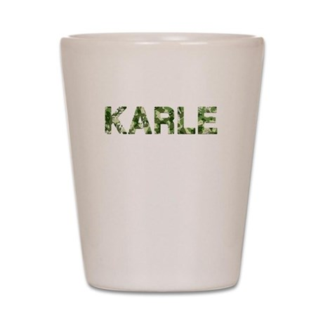 Karle, Vintage Camo, Shot Glass