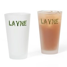 Layne, Vintage Camo, Drinking Glass