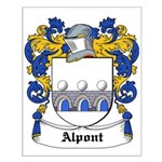 Alpont Coat of Arms Small Poster