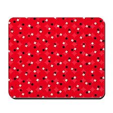 Red Confetti Custom Mousepad
