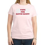 VOTE FOR KEVIN SCOTT Women's Pink T-Shirt