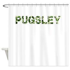 Pugsley, Vintage Camo, Shower Curtain
