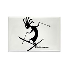 Kokopelli Extreme Skier Rectangle Magnet